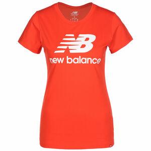 Essentials Stacked Logo T-Shirt Damen, rot, zoom bei OUTFITTER Online