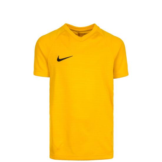 Dry Tiempo Premier Fußballtrikot Kinder, gelb / schwarz, zoom bei OUTFITTER Online