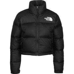 Nuptse Crop Winterjacke Damen, schwarz / weiß, zoom bei OUTFITTER Online