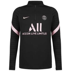 Paris St.-Germain Strike Drill Away Trainingssweat Herren, schwarz / rosa, zoom bei OUTFITTER Online
