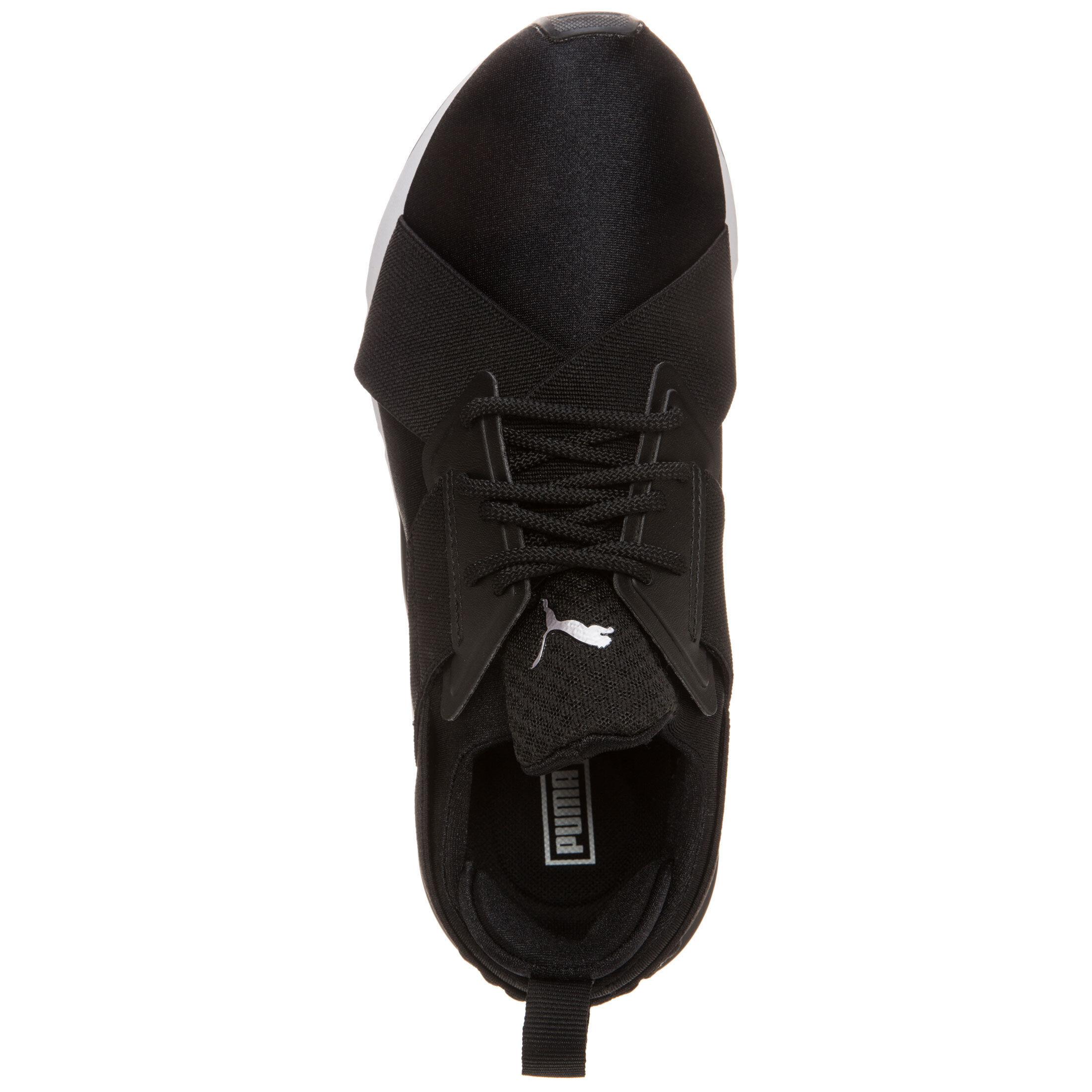 Damen Sport Puma Muse Satin En Pointe Sneaker Damen Schwarz