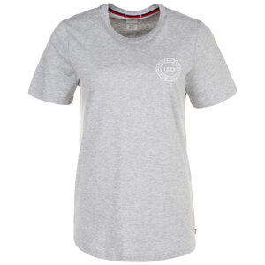 Stamp Logo T-Shirt Damen, grau / weiß, zoom bei OUTFITTER Online