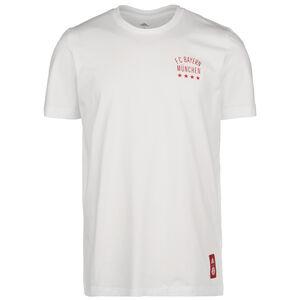 FC Bayern München Street Graphic T-Shirt Herren, weiß / rot, zoom bei OUTFITTER Online