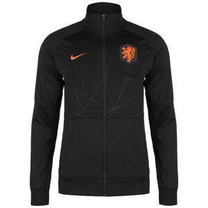 Niederlande I96 Anthem Jacke EM 2021 Herren, schwarz / orange, zoom bei OUTFITTER Online