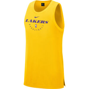 NBA Dri-Fit Los Angeles Lakers Tank Herren, gelb / violett, zoom bei OUTFITTER Online