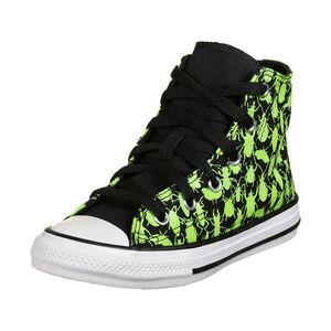 Chuck Taylor All Star Sneaker Kinder, schwarz / neongrün, zoom bei OUTFITTER Online