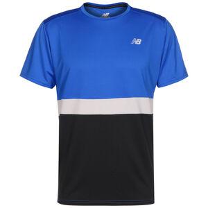 Stiped Accelerate Trainingsshirt Herren, blau / schwarz, zoom bei OUTFITTER Online
