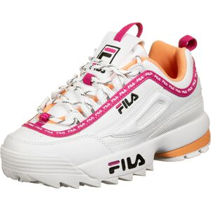 Disruptor Logo Sneaker Damen, weiß / pink, zoom bei OUTFITTER Online