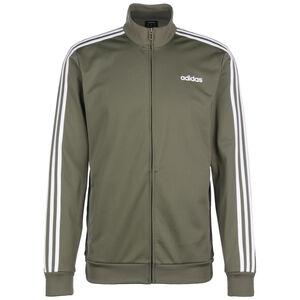 Essentials 3-Stripes Tricot Track Trainingsjacke Herren, khaki / weiß, zoom bei OUTFITTER Online