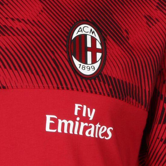 AC Mailand Casuals T-Shirt Herren, rot / schwarz, zoom bei OUTFITTER Online