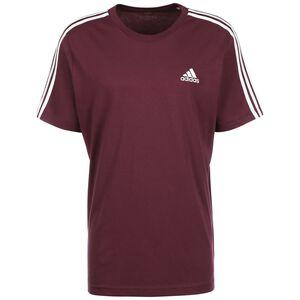 Essential 3-Stripes T-Shirt Herren, weinrot / weiß, zoom bei OUTFITTER Online