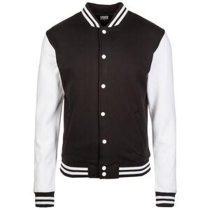 2-tone College Jacke Herren, schwarz / weiß, zoom bei OUTFITTER Online