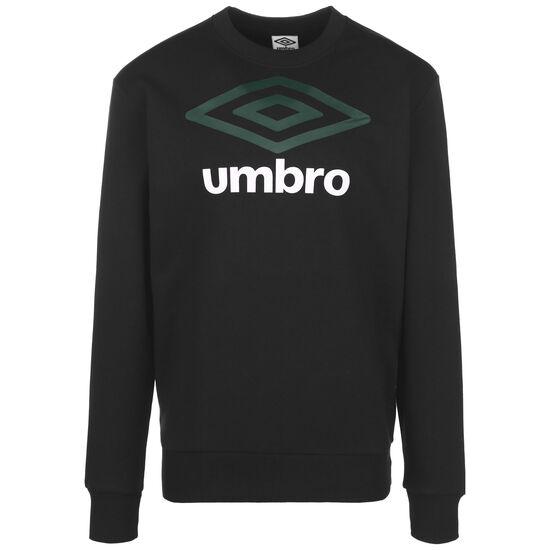 Large Logo Sweatshirt Herren, schwarz / dunkelgrün, zoom bei OUTFITTER Online