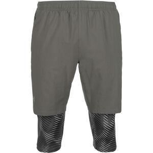 Launch SW 2-in-1 Printed Laufhose Herren, grau, zoom bei OUTFITTER Online