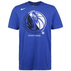 NBA Dallas Mavericks Dry Logo T-Shirt Herren, blau / weiß, zoom bei OUTFITTER Online