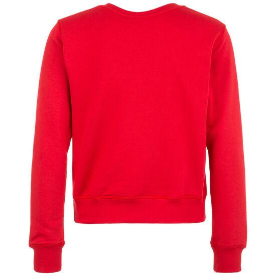Essentials Crew Sweatshirt Damen, rot, zoom bei OUTFITTER Online
