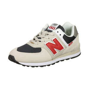 574 Sneaker Kinder, beige / rot, zoom bei OUTFITTER Online