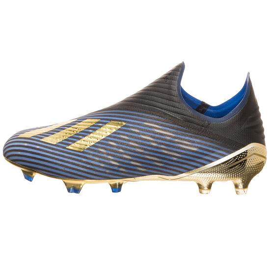 X 19+ FG Fußballschuh Herren, blau / gold, zoom bei OUTFITTER Online