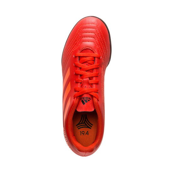 Predator 19.4 TF Fußballschuh Kinder, rot / schwarz, zoom bei OUTFITTER Online