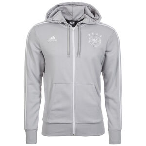 DFB 3S Kapuzenjacke WM 2018 Herren, grau / weiß, zoom bei OUTFITTER Online