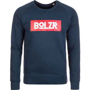 Sweater Sweatshirt Herren, blau / rot, zoom bei OUTFITTER Online