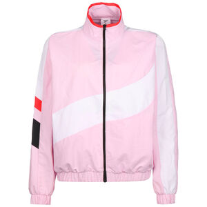 WOR Meet You There Woven Trainingsjacke Damen, rosa / weiß, zoom bei OUTFITTER Online