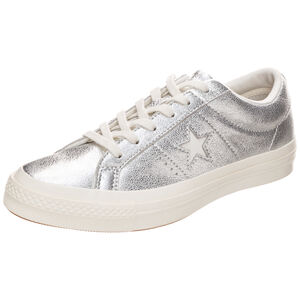 Cons One Star Metallic Leather OX Sneaker, Silber, zoom bei OUTFITTER Online