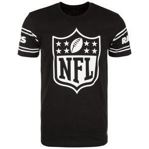 NFL Badge Oakland Raiders T-Shirt Herren, schwarz / weiß, zoom bei OUTFITTER Online