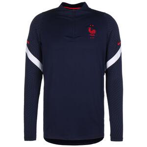 Frankreich Dry Strike Drill Sweatshirt EM 2021 Herren, dunkelblau / weiß, zoom bei OUTFITTER Online