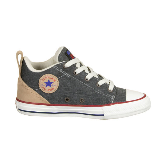 Chuck Taylor All Star Ollie Mid Sneaker Kinder, anthrazit / hellbraun, zoom bei OUTFITTER Online