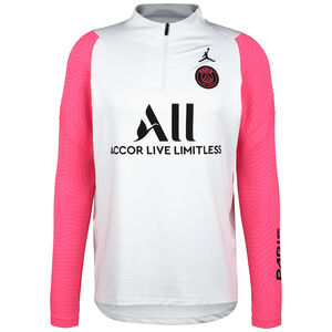 Paris St.-Germain Strike Drill Trainingssweat Herren, hellgrau / pink, zoom bei OUTFITTER Online