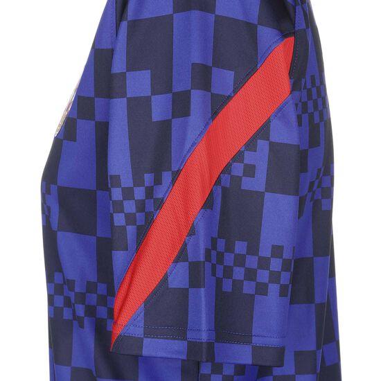 Kroatien Breathe Trainingsshirt EM 2021 Herren, blau / rot, zoom bei OUTFITTER Online