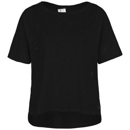 Perforated Trainingsshirt Damen, schwarz, zoom bei OUTFITTER Online