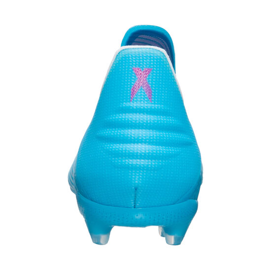 X 19+ FG Fußballschuh Kinder, hellblau / schwarz, zoom bei OUTFITTER Online