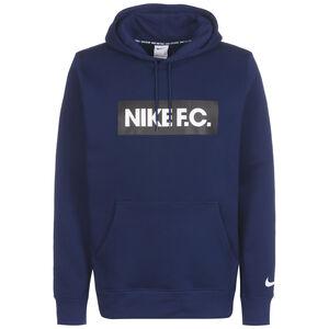 F.C. Essential Fleece Kapuzenpullover Herren, blau / weiß, zoom bei OUTFITTER Online