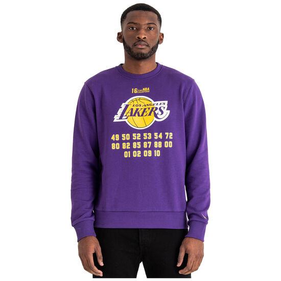 NBA Team Champion Crew LA Lakers Sweatshirt Herren, lila / orange, zoom bei OUTFITTER Online
