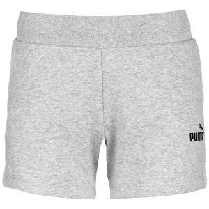 Essentials Sweat Shorts Damen, hellgrau / schwarz, zoom bei OUTFITTER Online