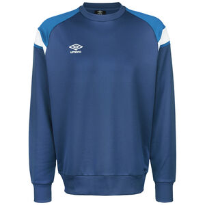Poly Fleece Trainingssweat Herren, blau / weiß, zoom bei OUTFITTER Online