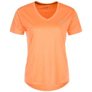 Miler V-Neck Laufshirt Damen, orange, zoom bei OUTFITTER Online