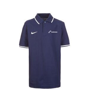 Mainova Club19 TM Poloshirt Kinder, dunkelblau / weiß, zoom bei OUTFITTER Online