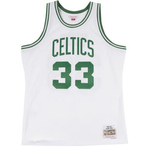 Classic Swingman Boston Celtics #33 Larry Bird Basketballtrikot, weiß / grün, zoom bei OUTFITTER Online