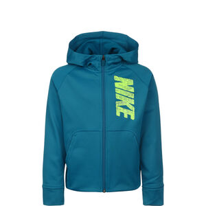 Therma GFX Kapuzensweatjacke Kinder, petrol / neongrün, zoom bei OUTFITTER Online