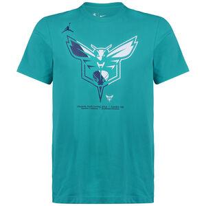 NBA Charlotte Hornets Dry Logo T-Shirt Herren, petrol / dunkelblau, zoom bei OUTFITTER Online