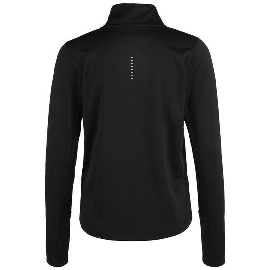 Swoosh Essential 1/4 Zip Laufsweatshirt Damen, schwarz / weiß, zoom bei OUTFITTER Online