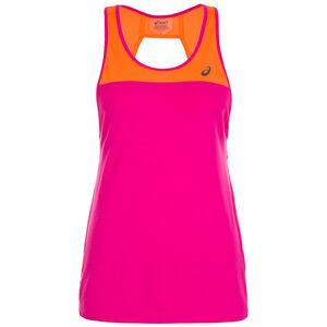 Loose Strappy Lauftank Damen, pink / orange, zoom bei OUTFITTER Online