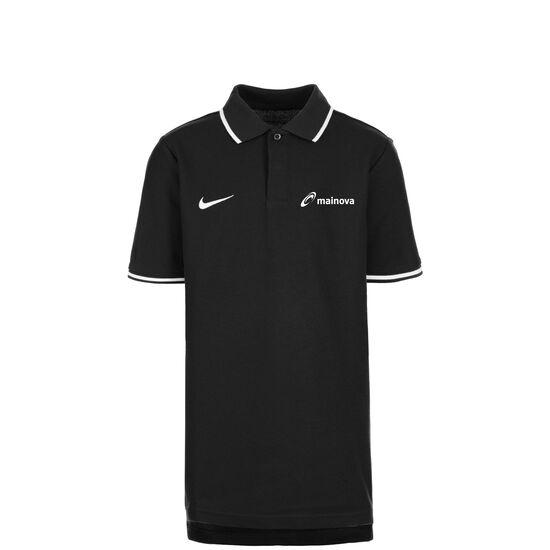 Mainova Club19 TM Poloshirt Kinder, schwarz / weiß, zoom bei OUTFITTER Online