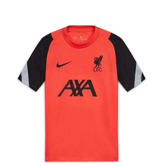 FC Liverpool Breathe Strike CL Trainingsshirt Kinder, rot / schwarz, zoom bei OUTFITTER Online