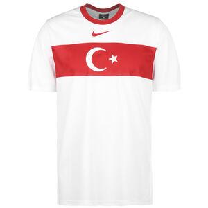 Türkei Breathe Trainingsshirt EM 2021 Herren, weiß / rot, zoom bei OUTFITTER Online