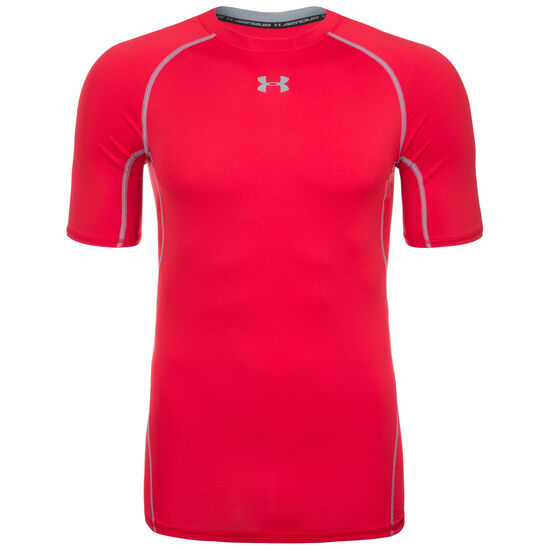 HeatGear Armour Compression Funktionsshirt Herren, Rot, zoom bei OUTFITTER Online
