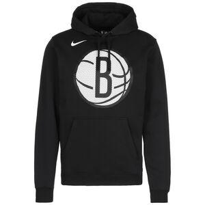 NBA Brooklyn Nets Logo Fleece Kapuzenpullover Herren, schwarz / weiß, zoom bei OUTFITTER Online